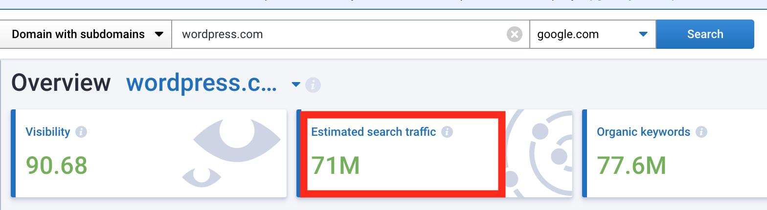 Поисковый трафик в Serpstat